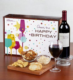 Happy Birthday! Red Wine and Gourmet Box