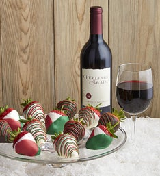 Christmas Dipped Strawberries & Cabernet Sauvignon