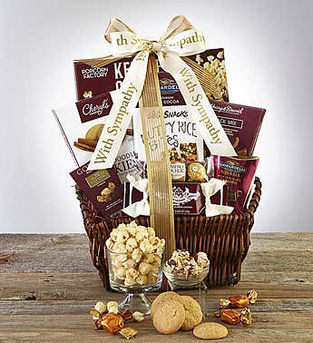 In Sympathy & Support Gift Basket