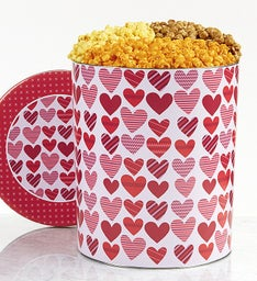 The Popcorn Factory From the Heart 3 Way Tin