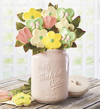 Cheryl's Mother's Day Cookie Flowers & Mason Jar