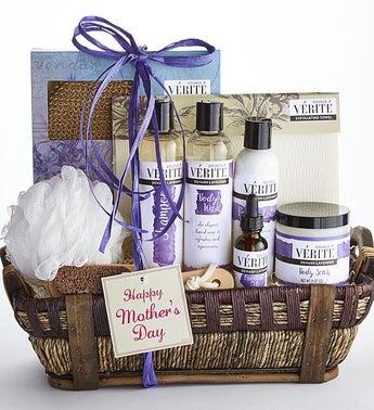 Happy Mothers Day Denarii Lavender Spa Basket