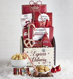 Holly Jolly Sweets Holiday Gift Basket