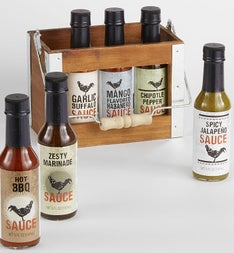 6 pack Wing Sauce Crate