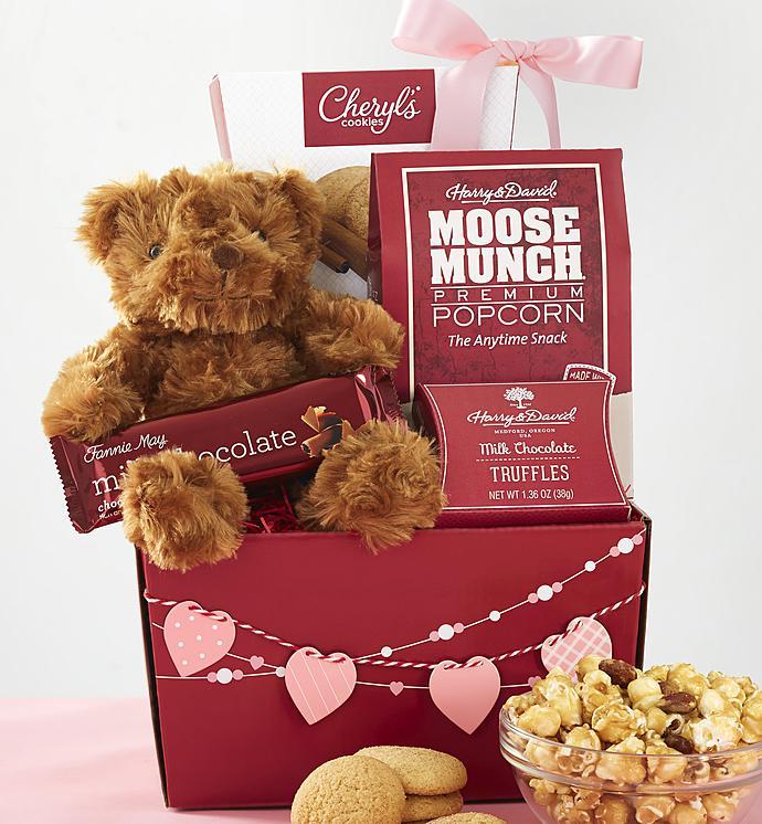 My Valentine Bear U0026 Sweets Basket