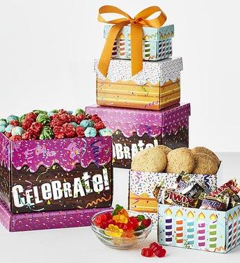 Birthday Celebration Sweets Tower SnipeImage