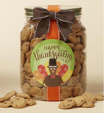 Happy Thanksgiving Chocolate Chip Cookie Jar