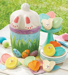 Cheryl's Bunny Jar with Frosted Cut-Out Cookies