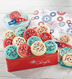 Cheryl's Patriotic Tin with Cut-Out Cookies