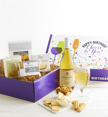 Happy Birthday! White Wine Gourmet Market Box