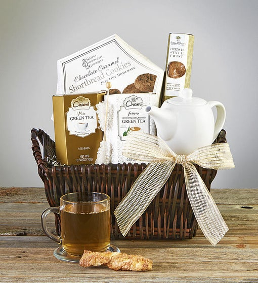 Time To Relax Tea & Teapot Gift Basket