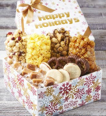 The Popcorn Factory Sparkling Snowflake Sampler