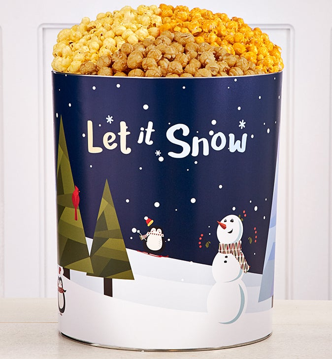 The Popcorn Factory® Snow Much Fun 3 Flavor Tin