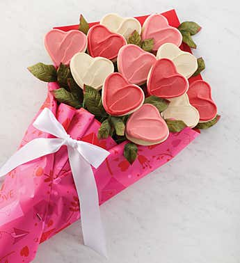 Cheryl's Valentine's Long Stemmed Cookie Flowers