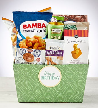 Happy Birthday! Snacks & Sweets Gift Basket