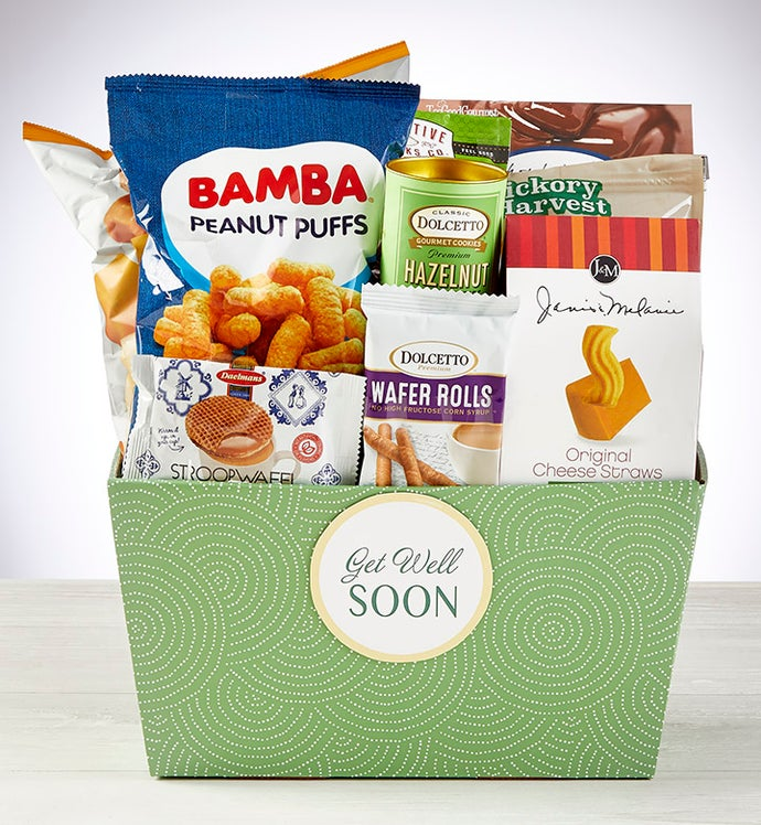 Get Well Soon! Snacks & Sweets Gift Basket