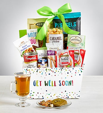 Get Well Soon Care Package Bin