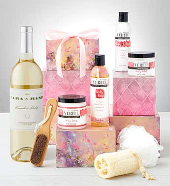 Pamper Her for Valentine's Day Spa Tower with Wine