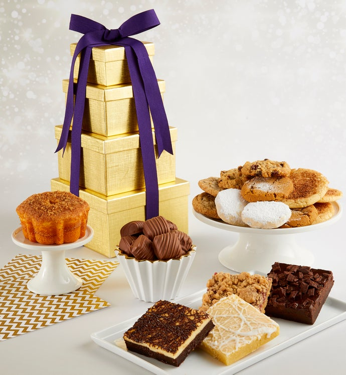 Gold Bakery Gift Tower