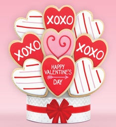 Happy Valentines Day Cookie Arrangement