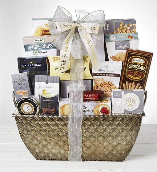 With Love & Remembrance Sympathy Basket