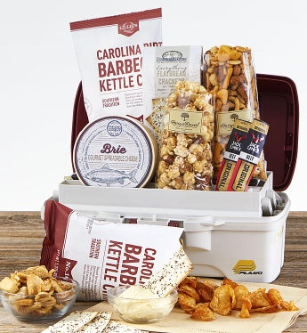 Fisherman's Tackle Box with Snacks