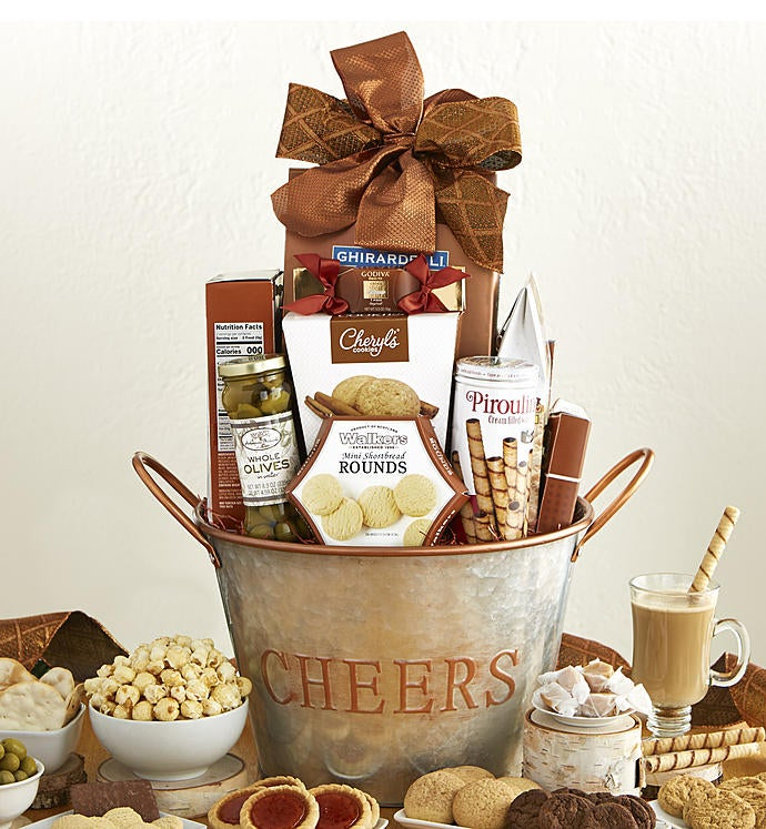 Cheers Basket snipeImage & Christmas Gift Baskets Delivery | Holiday Gift Baskets | 1800Baskets