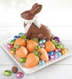 Easter Chocolate Bunny Eggs and Berries