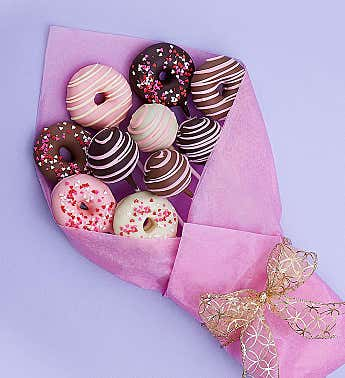 Sweet Chocolate Covered Donut & Cake Pop Bouquet