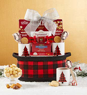 Buffalo Plaid Holiday Gift Basket