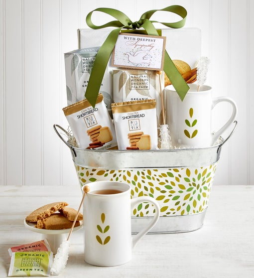 In Sympathy Tea Gift Basket