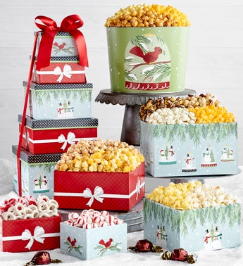 The Popcorn Factory Magical Holiday 5 Tier Tower