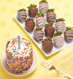 Chocolate Covered Strawberries & Birthday Cake