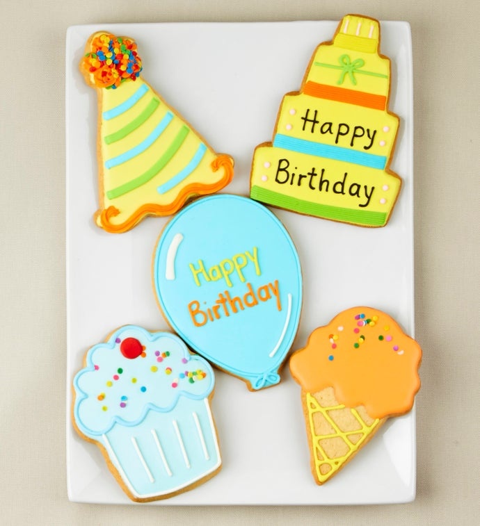 Birthday Bliss Artisan Iced Cookies