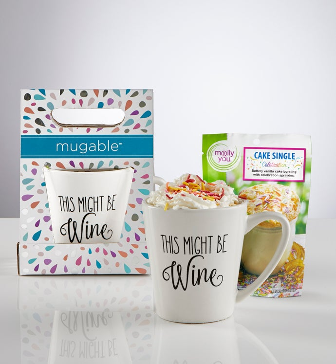 Mugable™ This Might Be Wine with Cake Mix
