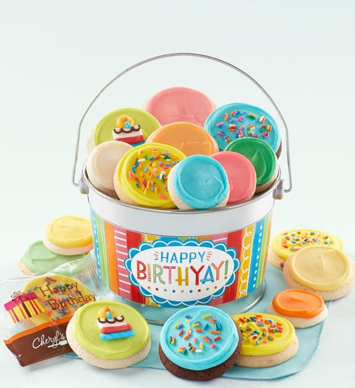 Cheryl's Happy Birthday Buttercream Pail