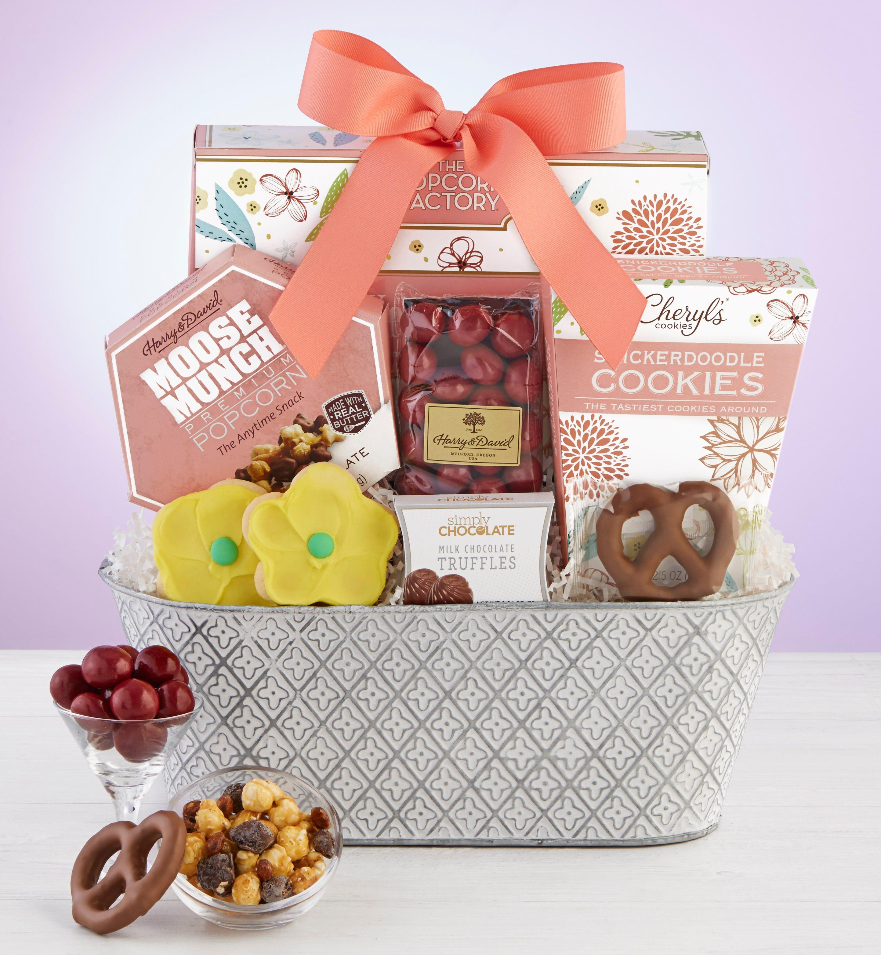 Full Bloom Sweet Treats Basket