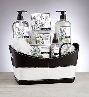 Black and White Spa Basket