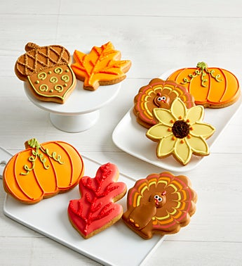 Fall Day Artisan Iced Cookies