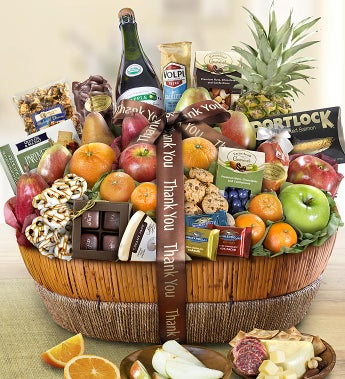 Thank You Fruit & Sweets Gift Basket Grande