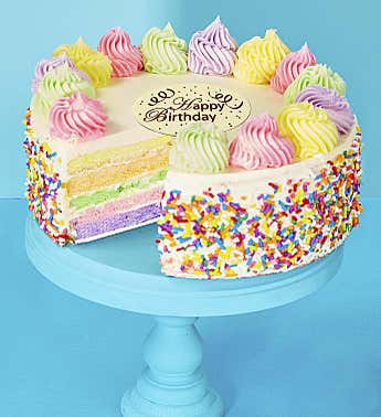 Bake Me a Wish! Happy Birthday Rainbow Cake