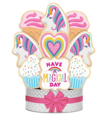Have a Magical Day Unicorn Cookie Arrangement