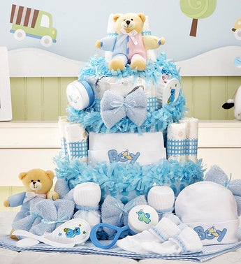 New Baby Boy Gift Basket Grand Essentials