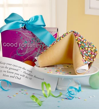 Personalized Gigantic Giant Confetti Fortune Cookie