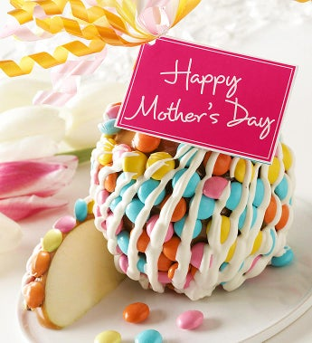 Happy Mother's Day Caramel Apple with Candies
