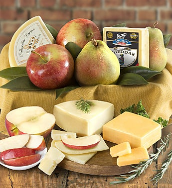 Fresh Fruit & Cheese Gourmet Gift Box