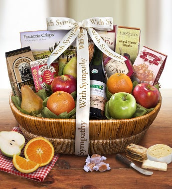 With All Our Love & Sympathy Fresh Fruit Basket