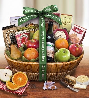 Fathers Day Farmstand Finest Fruit Gift Basket
