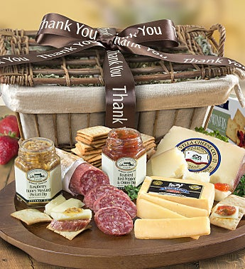 Thank You Epicurean Meat & Cheese Gift Basket
