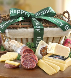 California Crafted Meat & Cheese Birthday Basket